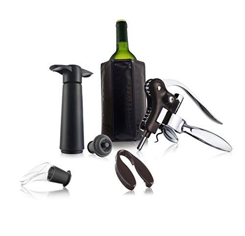 Vacu Vin 69002606 Estuche De Regalo Wine Set Professional, Negro, 16 x 8 x 20 cm, 8 Unidades