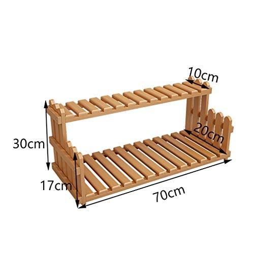 Blumenständer, Office Desktop Multi-Layer-Storage Rack, platzsparende Rack-Innendekoration, wasserdichtes Laminat, hochbelastbaren Shelf (Size : 70 * 30 * 20cm)