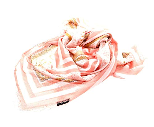 Guess Candace Printed Kefiah Scarf Coral