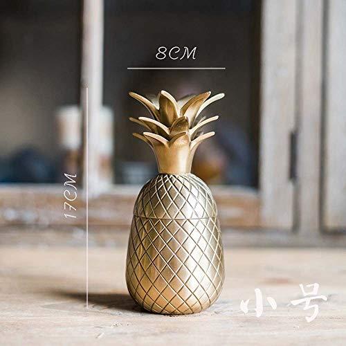 Gannon Front Kupfer Dekoration Ananas Ananas Kerzenständer Speicher Retro Geschenk (Color : D)