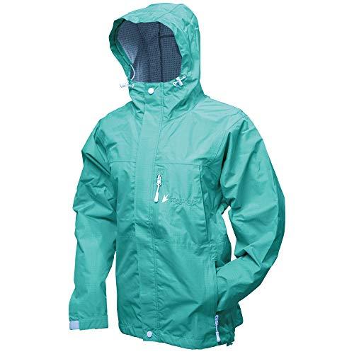 FROGG TOGGS Women's Java Toadz 2.5 Ultra Light Waterproof Breathable Rain Jacket, Seafoam, X-Large (JT62530)