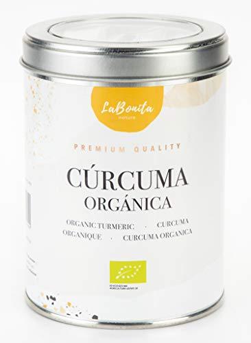 LaBonita Nature, Cúrcuma Orgánica para infusionar Lata/Granel, 100 gr