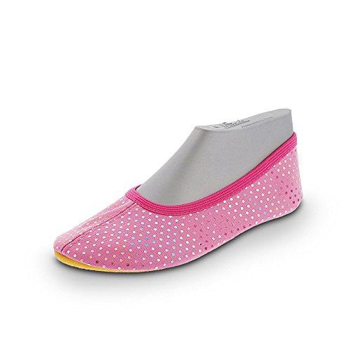 Beck Mädchen Punkt Multi Gymnastikschuhe, Pink (Pink 06), 27 EU