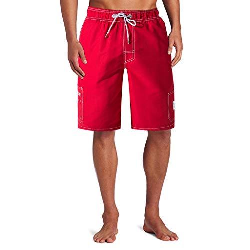 Badeshorts für Männer Bermuda Sporthose Jogging Laufen Fitness Shorts / Herren Jungen Badehose Schnelltrocknend Schwimmhose Strand Kurze Hosen Sommer Urlaub Schnell Trocknend Hawaii Surf Sweatshorts