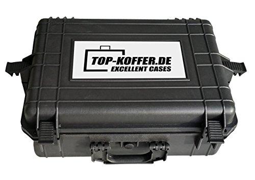 TOP KOFFER 35 – Robuster, Wasser- und staubdichter Transportkoffer zur Nutzung als Waffenkoffer, Koffer für Meßgeräte, Fotoausrüstung, Musikinstrumente, IT-Geräte und vieles mehr