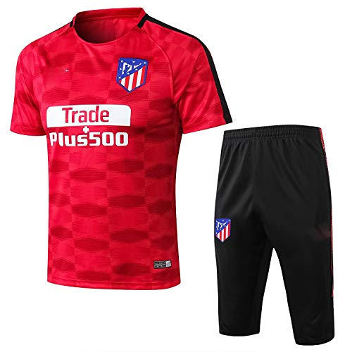 PARTAS Short Sleeve Trainingsanzug Atletico Madrid Football Wear Verein Uniform Wettbewerb Anzug Herren-Geschenk-Ausrüstungs-T-Shirt Männer Jersey 2 Stück Sets (Size : XL)