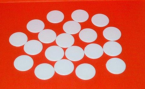 Roulette Spielmarken , Spielchips , Zählchips 100 Stück ,aus Kunststoff weiß , 22 mm