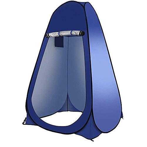 Pop up Toilettenzelt Umkleidezelt, Camping Duschzelt Outdoor Mobile Toilette Umkleidekabine Lagerzelt, Wasserdichtes Tragbares Toilettenzelt, Strandumkleideraum, 47,2 * 47,2 * 74,8 Zoll-Blau