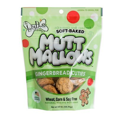 The Lazy Dog Cookie Co. Soft Baked Mutt Mallows, Gingerbread Cuties