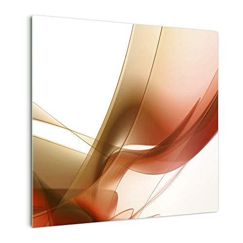 DekoGlas Kitchen Back Wall 'Brown Waves' in Various Sizes, Glass Back Panels, Splash Guard & Tile Mirrors