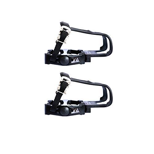 Not Application Pedales de bicicleta con clip para los dedos y correas para bicicleta estática y al aire libre.