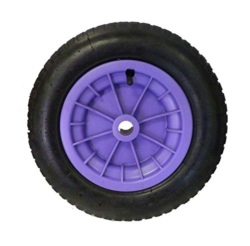 Dtkh Reifen für Schubkarre, pneumatisch, 3.25/3.00-8, Schlauch, Lila