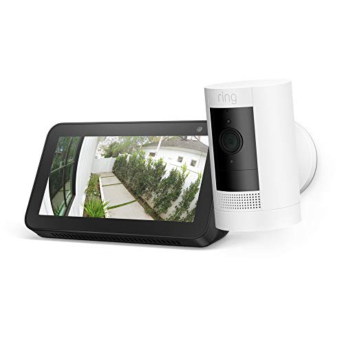 Ring Stick Up Cam Solar with Echo Show 5 (Charcoal)