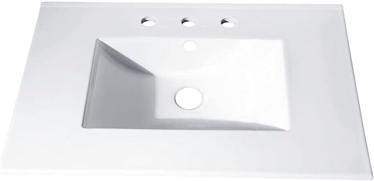 37 in Vitreous China Top with Integrated Bowl 8 Holes
