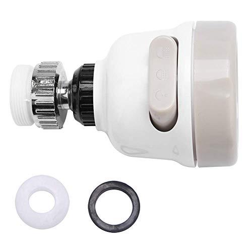 Aireador de grifo 360 & iexcl; & atilde;Grifo de cocina giratorio Cabezal rociador Grifo de salpicaduras Boquilla de filtro Ajuste de 3 modos Reemplazo del cabezal del rociador