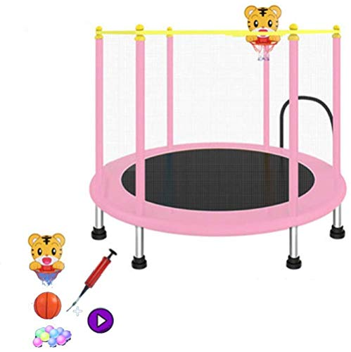 LKFSNGB Trampolin mit Sicherheitsnetz, Outdoor, Garten, Sprungmatte, Federabdeckung, Polsterung, Mini-Trampoline für Kinder