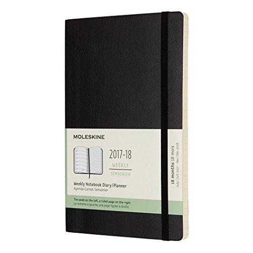 モレスキン 手帳 2017-2018 (2017年7月始まり) ウィークリー ソフトカバー ラージ ブラック DSB18WN3Y18