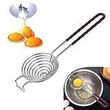 Separador de yemas en Acero Inoxidable, Separador de yemas de Huevos, Extractor de clara de huevo, para herramienta de cocina Separador de utensilios de cocina