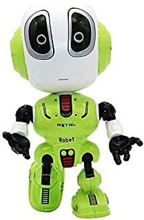 CONVLI Talking Robot Toys for Boys or Girls,Mini Body Robot with Repeats Your Voice,Colorful Flashing Lights Interactive Toy for Gift(Green)