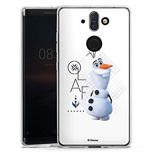 Silikon Hülle kompatibel mit Nokia 8 Sirocco Case Schutzhülle Die Eiskönigin 2 Frozen Olaf Disney