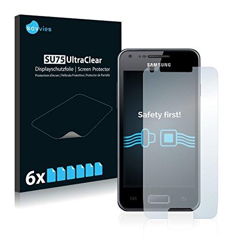 savvies 6-Pezzi Pellicola Protettiva Compatibile con Samsung Galaxy S Advance Protezione Schermo Trasparente