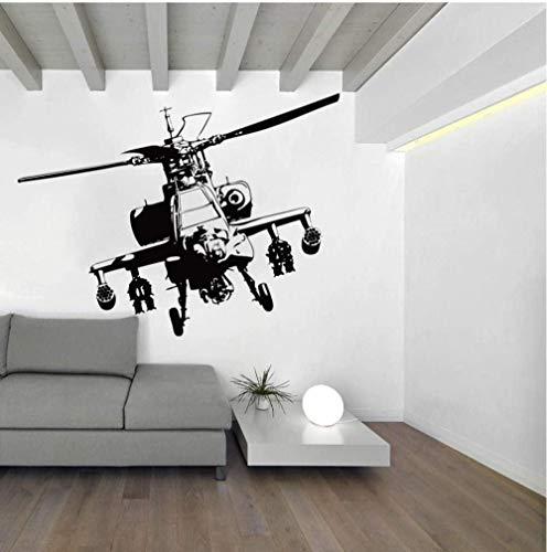Muurstickers Art Decal Vinyl Murals Grote Helikopter Jongen Kamer Slaapkamer Vliegtuig Leger Woonkamer Kwekerij Thuis 56X42cm