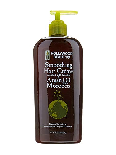 Hollywood Beauty Argan OIl Smoothing Hair Creme Enriched With Keratin