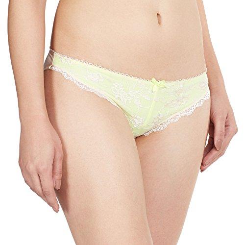 Bwitch Women's Meryl Bikinis (BW484-0007_Neon and Ivory_Large)