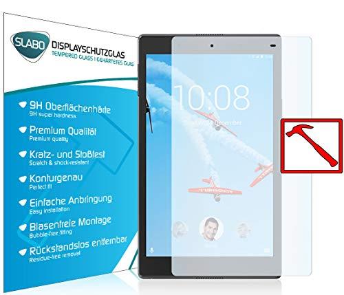 Slabo 2 x Premium Panzerglasfolie für Lenovo Tab4 8 Plus Echtglas Bildschirmschutzfolie Schutzfolie Folie Tempered Glass KLAR - 9H Hartglas