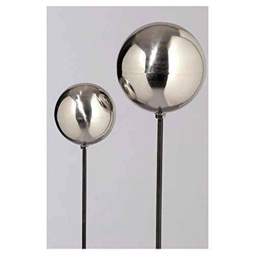 Gartenstab Galaxy, H 120 cm, Metall, Silber Sortierung: 1 sort.; Metallart: Edelstahl; Höhe Artikel: 120 cm; Durchmesser Artikel: 13 cm; Farbe: Silber