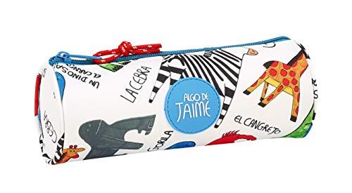 Algo de Jaime Oficial Estuche Redondo Oficial Escolar 200x70mm, Unica, Multicolor