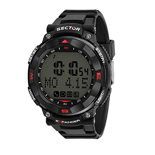 Sector No Limits Herren Digital Analog Quartz Uhr mit Plastic Armband R3251529001