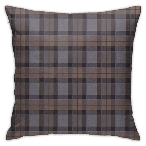 wteqofy Fraser Hunting Tartan Plaid Throw Pillow Cover 18'X18', Double Side Design Bolster Pillowcase, Decorative Cushion Pillow Case for Car Sofa Theme Brithday Party Bedroom Decor Kid Girls Boys