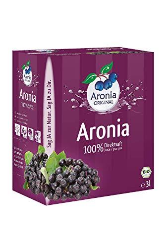 Aronia Original Bio Aronia-Muttersaft im Monatspack, 3000 ml