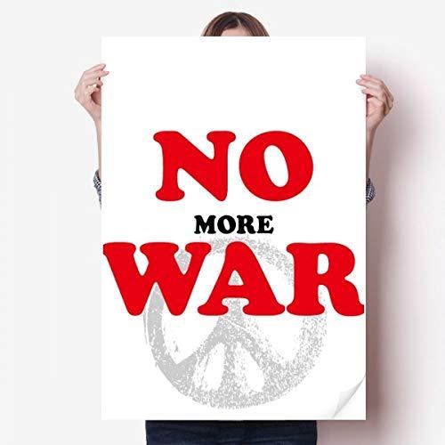 DIYthinker No More Guerre Mondiale Amour Paix dans Le Monde Vinyle Autocollant de Mur Poster Mural Wallpaper Chambre Decal 80X55Cm 80cm x 55cm Multicolor