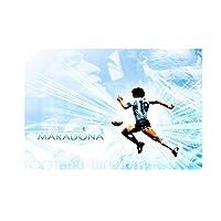 アルマンドマラドーナフットボールスーパースターポスタープリントアートワークギフト装飾壁アートキャンバス絵画リビングルームの装飾-50x75CMフレームなし