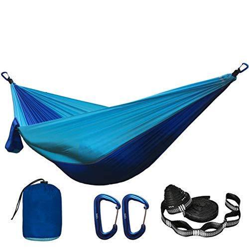 Yousiju Hamaca de paracaídas de Color sólido con Correas de Hamaca y mosquetón de Aluminio Camping Supervivencia Viajes Muebles de Exterior para Dos Personas (Color : C)