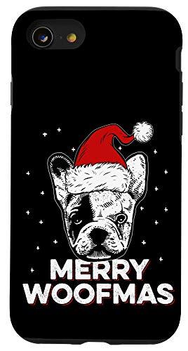 iPhone SE (2020) / 7 / 8 Merry Woofmas   Santa Hat Christmas Frenchie Case