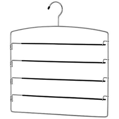Whitmor Swing Arm Slack Hanger - Closet Pants Organizer - Slip Free - Chrome