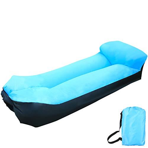 XUE-SHELF Aufblasbarer Stuhl Air Lounger Sofa, wasserdichtes Ripstop Nylon für Pool Float, Strand, Festival, Hinterhof und Outdoor, leicht und tragbar, Himmelblau