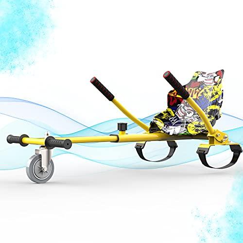 SOUTHERN WOLF Hoverkart Seggiolino Go-Kart Hoverkart per Hoverboard, Compatibile con Hoverboard per Scooter con autobilanciamento da 6,5'8' 10', Lunghezza Regolabile, gokart con Bandiera