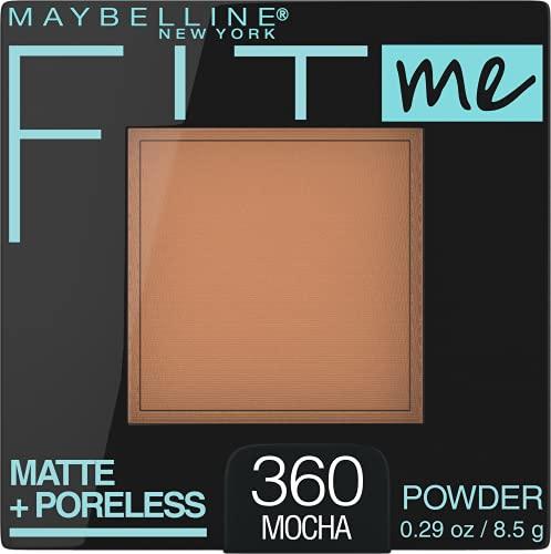 Maybelline New York Fit Me Matte + Poreless Powder Makeup, Mocha, 0.29 Ounce, 1 Count