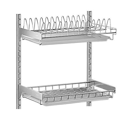 shelf Scaffale a muro in acciaio inox a parete 304 forato scolapiatti cremagliera/piatto da cucina appeso rack/vassoio rack 42 * 40 * 26,5 cm