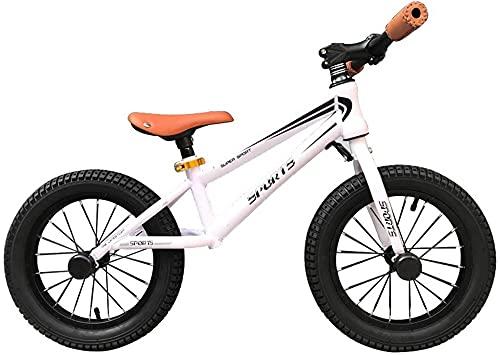MLL Balance Bike, Big Kid Girl Boy Balance Bike con neumáticos de 16 Pulgadas, Marco de Acero sin Pedales Bicicleta de Entrenamiento para Caminar, Asiento Ajustable