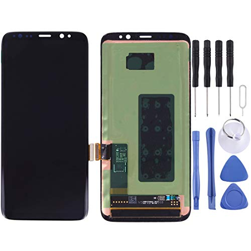 Glass LCD-scherm + Touch Panel For Galaxy S8 / G950 / G950F / G950FD / G950U / G950A / G950P / G950T / G950V / G950R4 / G950W / G9500 (zwart) Reparatie (Color : Black)