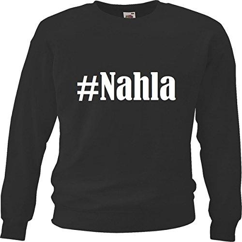 Reifen-Markt Sudadera Hashtag #Nahla para mujer, hombre y niños en los colores negro, blanco y azul con impresión Negro 09Mujer Large EU