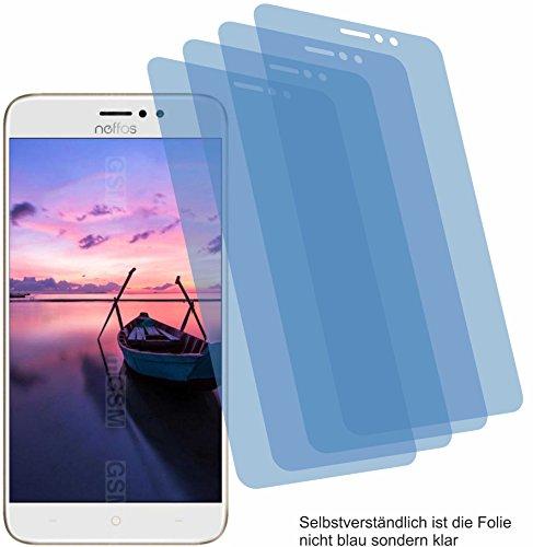 4ProTec I 4X Crystal Clear klar Schutzfolie für TP-Link Neffos C7 Bildschirmschutzfolie Displayschutzfolie Schutzhülle Bildschirmschutz Bildschirmfolie Folie