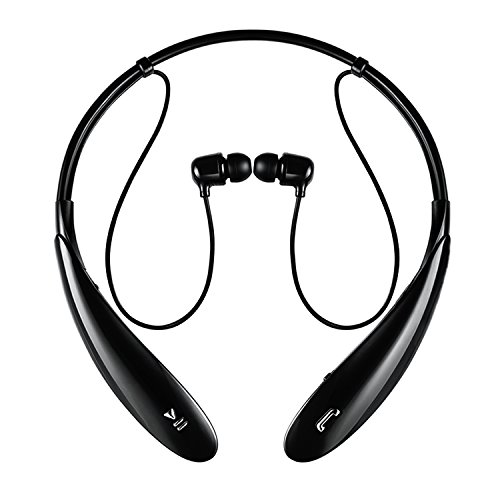 iProtect Wireless Bluetooth In-Ear Kopfhörer Stereo Headset Sport mit Freisprechfunktion in schwarz