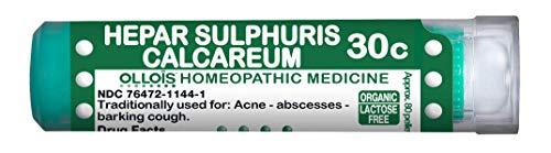 OLLOIS Organic, Lactose-Free Homeopathic Medicines, Hepar Sulphuris Calcareum 30C Pellets, 80 Count for Ance