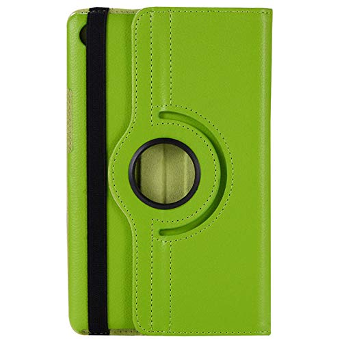 360 Funda giratoria de Cuero con Tapa para Samsung Galaxy Tab 3 Lite 7 Pulgadas SM-T110 T111 Tab E 7.0 SM-T113 T116 Funda para Tableta-Verde